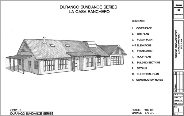 Solar home building plans durango solar homes for Solar cottage plans
